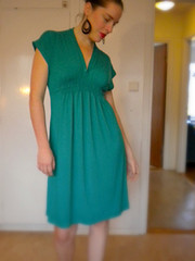 Burda Knit Dress in Teal