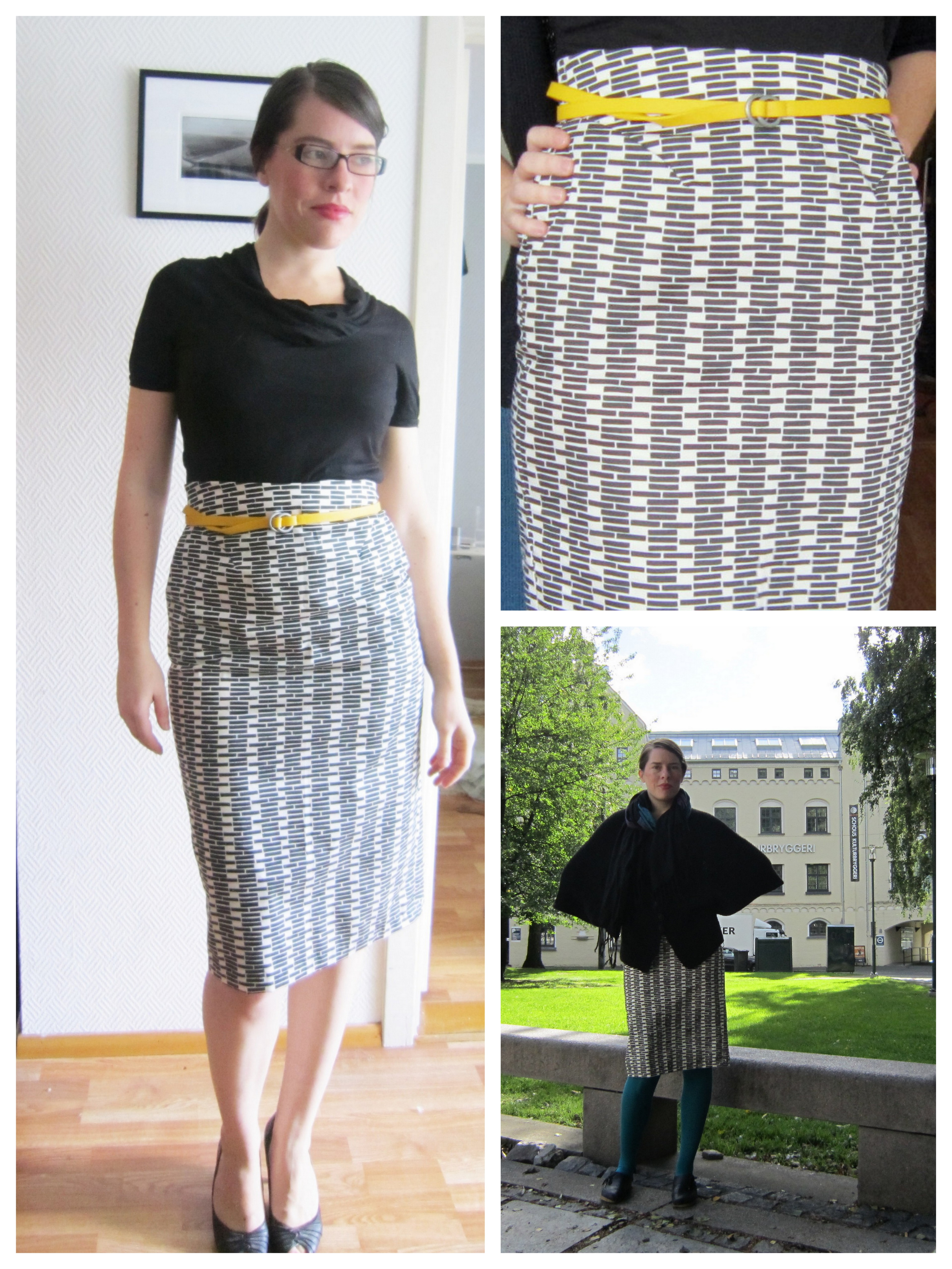Fo fairtrade pencil skirt delfinelise two different stylings jeuxipadfo Choice Image