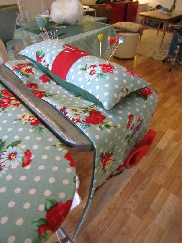 Ironing board  pin cushion