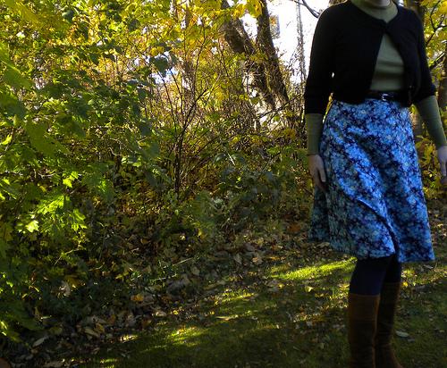 Quarter circle skirt