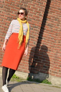 delfinelise, pencil skirt, ponte knit
