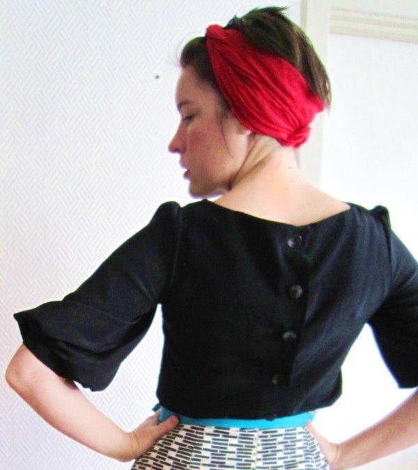 Mathilde blouse in black