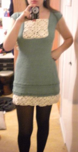 Knitted dress Garnstudio